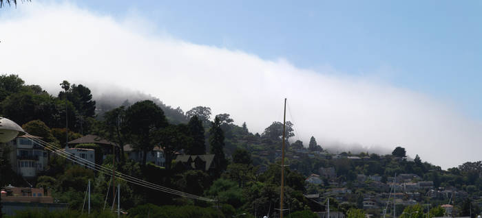 Clouds coming over Sausalito