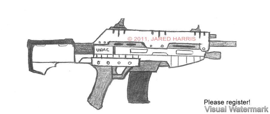 machine gun drawings