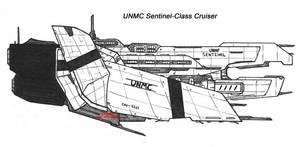UNMC Sentinel-Class Cruiser by Malcontent1692