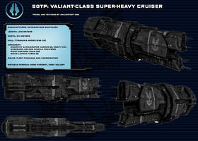 Halo-UNSC Valiant-class super-heavy cruiser (SotP) by Malcontent1692
