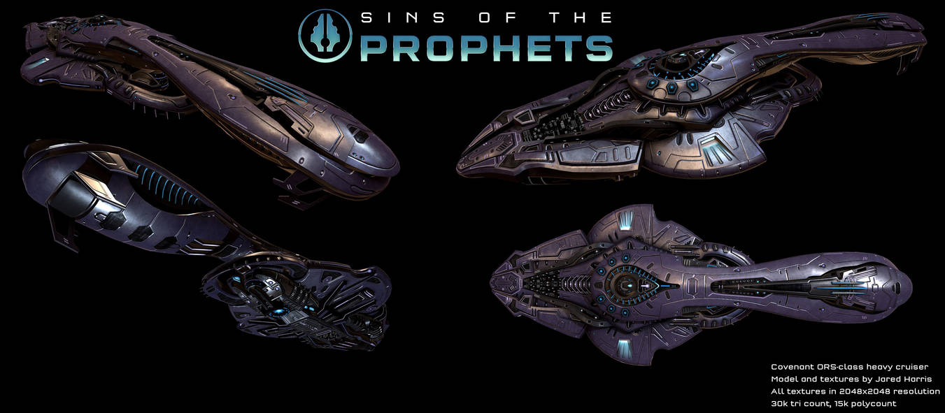Halo: Covenant ORS-class heavy cruiser V2 by Malcontent1692