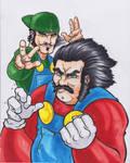 The Mario Bro's by MARR-PHEOS