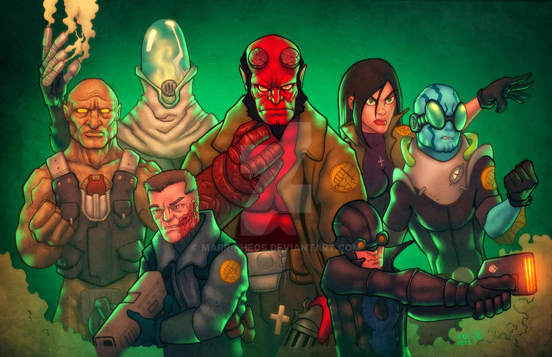 Hellboy and crew