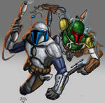 Mr and Mr Fett by MARR-PHEOS