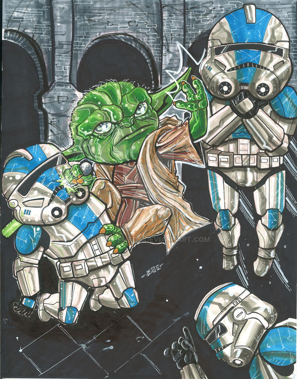 Yoda versus by MARR-PHEOS