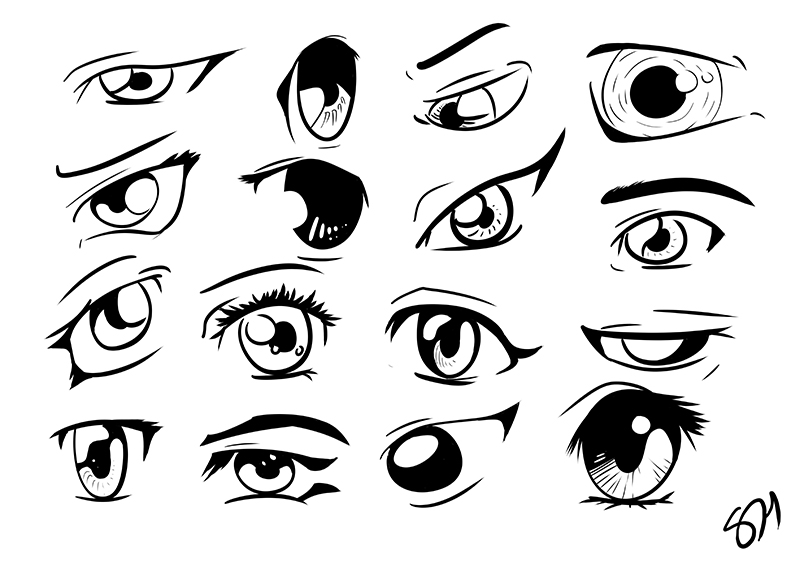 mobilehappy anime male eyes coloring pages