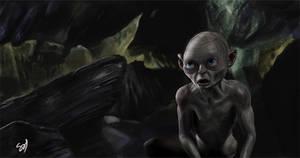 The hobbit fan art Gollum