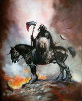 Ode to Frazetta, Death Dealer by huy-truong