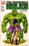 Hulk and Wonderwoman sketch cover commission