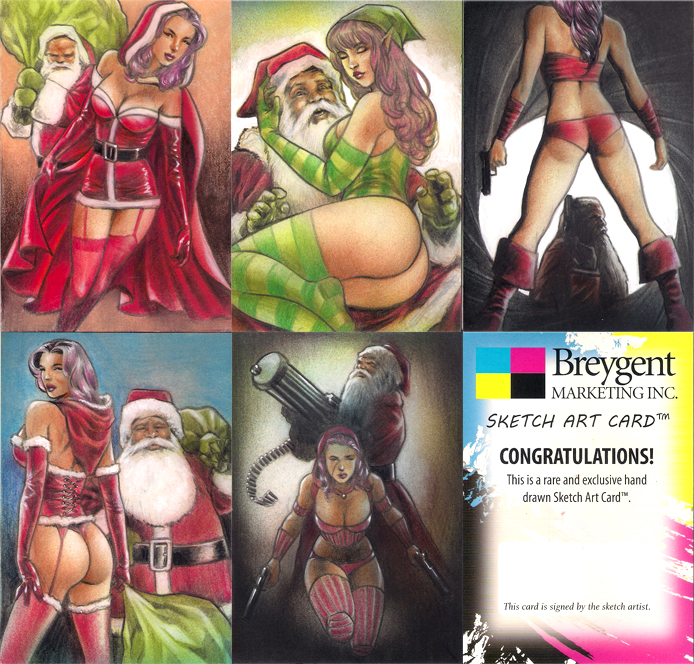 Kringle Kards sketch cards by huy-truong