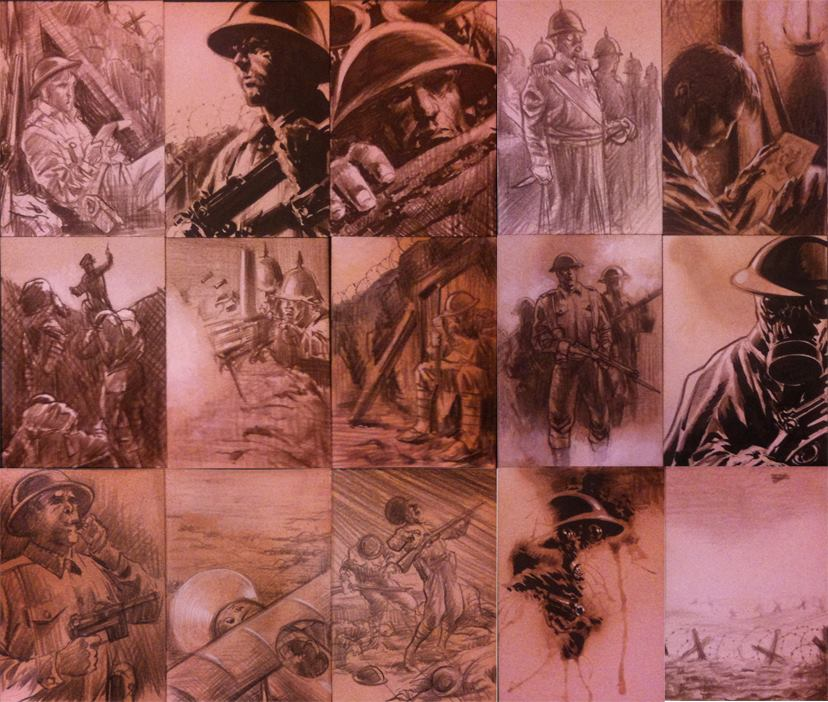 1914 sketch cards by huy-truong