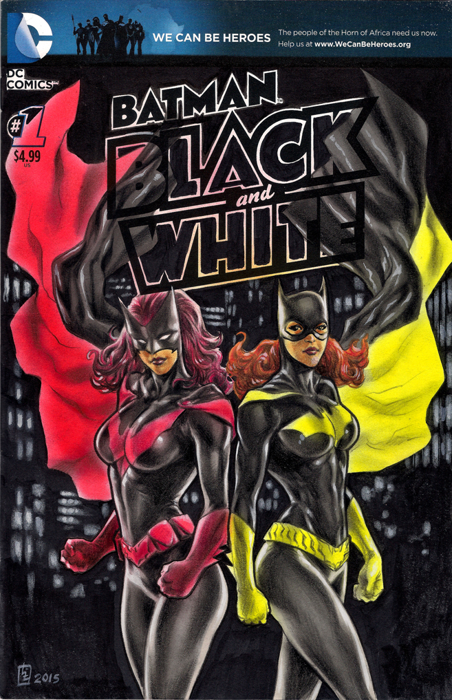 Batladies sketch cover commission by huy-truong