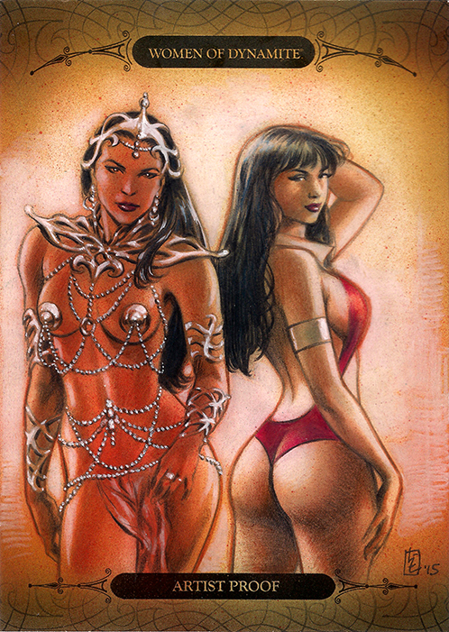 Vampirella and Dejah Thoris by huy-truong
