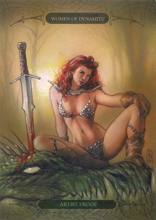 Red Sonja Sketch Card by huy-truong