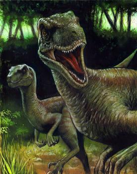 Jurassic Domination sketch card set