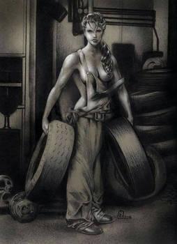 Freya with tyres