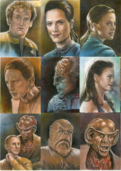 Star Trek Deep Space Nine sketch cards