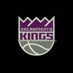Sacramento Kings Applique Embroidery Design