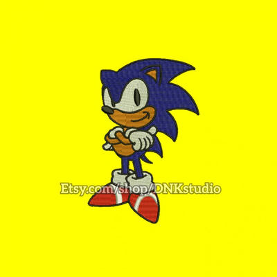 Applique Embroidery Sonic Hedgehog Design