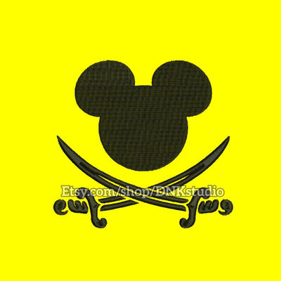 Mickey Pirate Embroidery Design