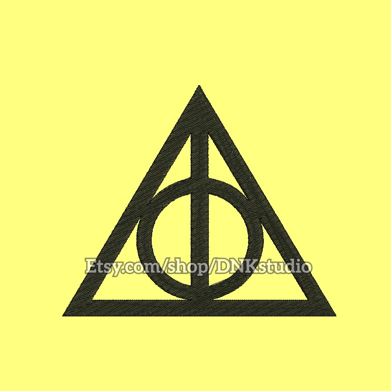 Deathly Hallows Harry Potter Symbol Embroidery Des By Applique