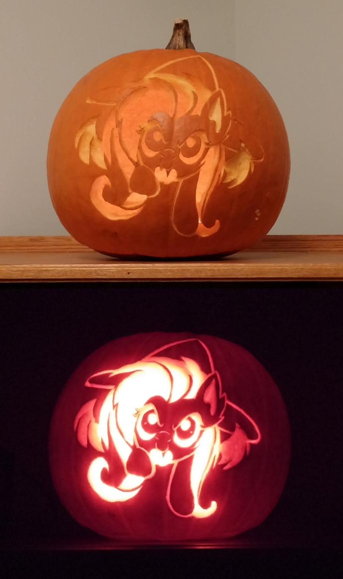 Flutterbat Pumpkin by GeoffNET