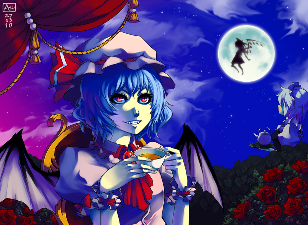 Midnight teatime by Arlmuffin