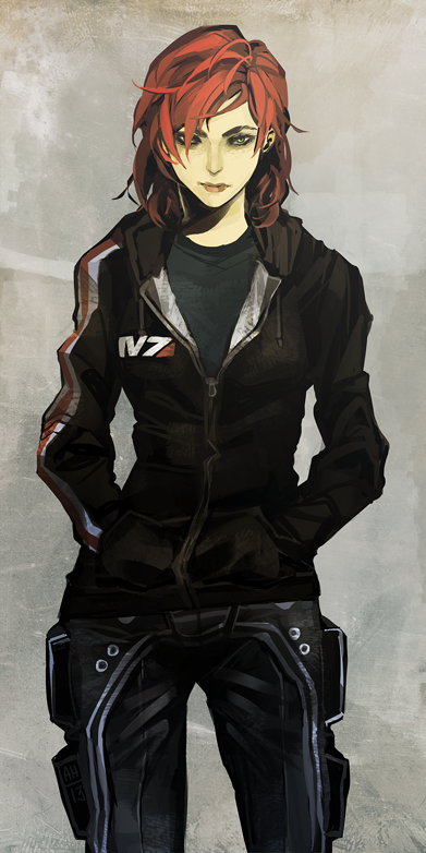 Badass Anime Character Design : Casual shepard by arlmuffin on deviantart