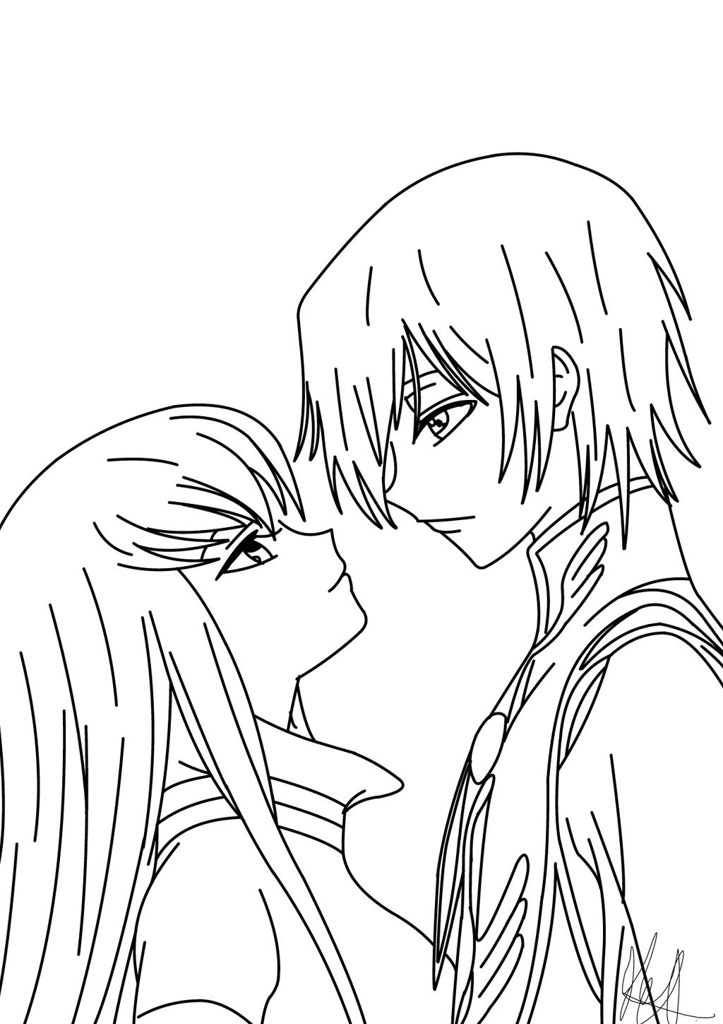 Drawing Lines With C : C lelouch quick line art drawing by farside on