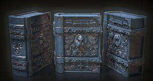 Old Book 3D - high poly model