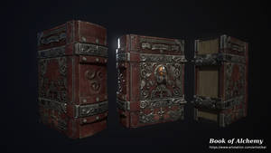 The Book of Alchemy - 3D game model