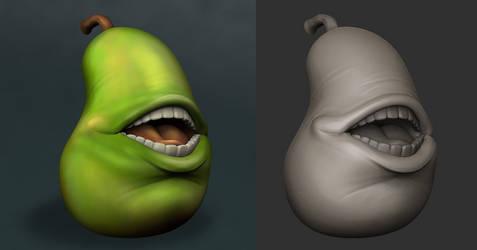 Biting Pear 3D by FuriKar