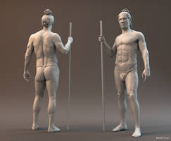 Figure sculpting - final work for anatomy classes