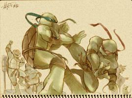 TMNT fan drawing 2 by Rcaptain