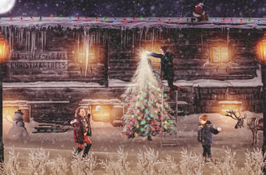 ChristmasTreeFarmHouse(MYKIDS)(snow)(WM) by BriannaHupp