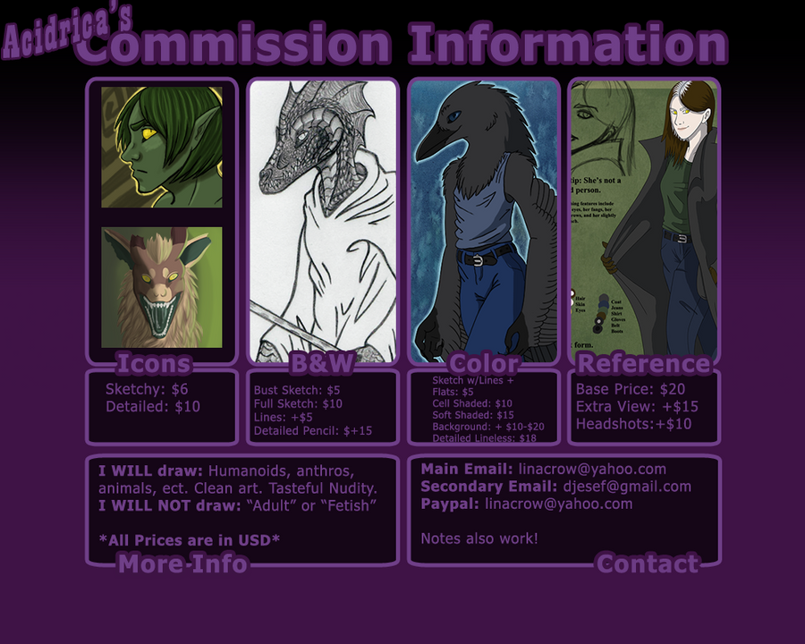Acidrica's Commission Info by acidrica