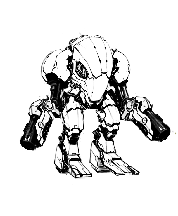 Mech sketch by Trabbold