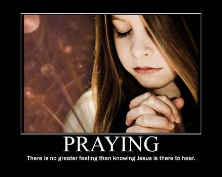 Praying Motivational Poster