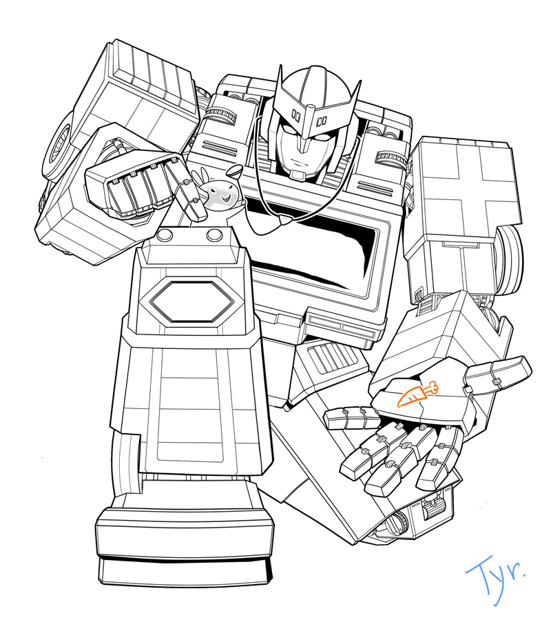 Ratchet line art by tyr44 on deviantart for Ratchet coloring pages