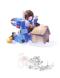 Thundercracker and Buster by Tyr44