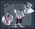 GREAT HORNED OWL ADOPTABLE - AUCTION - 24 H LEFT by Parrpitched