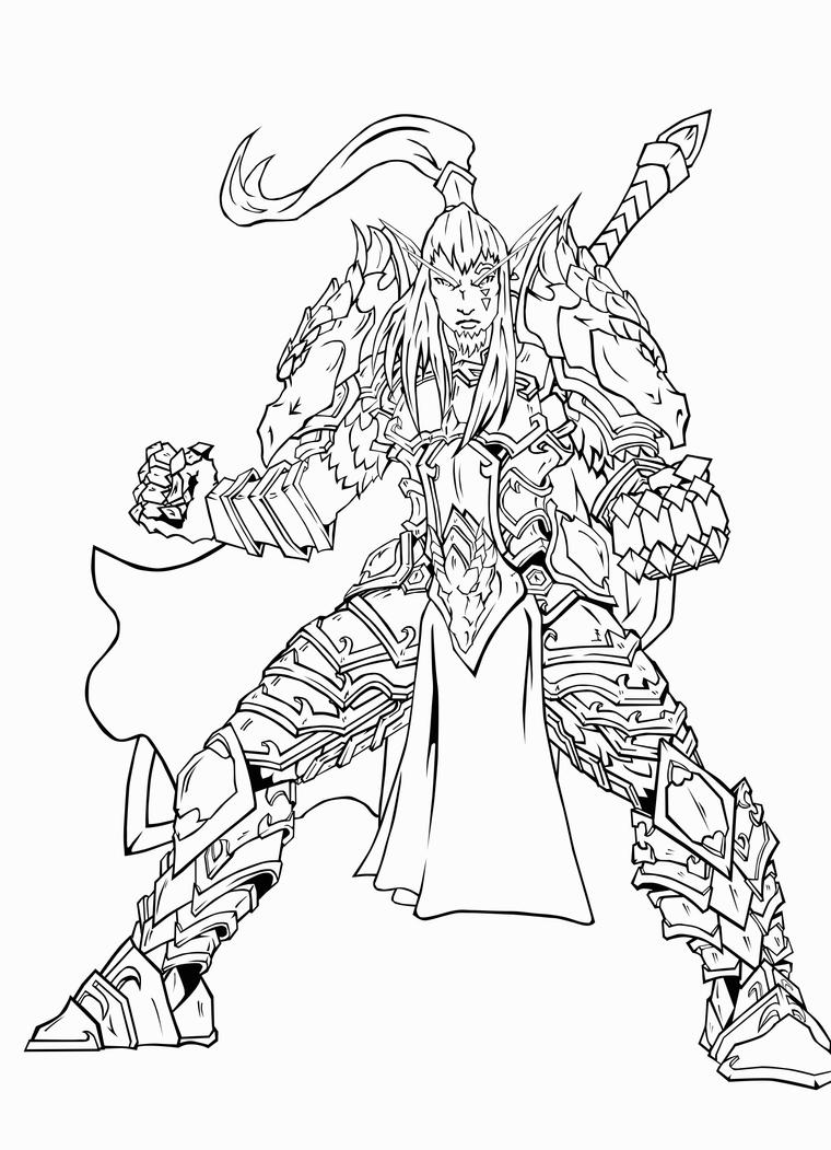 Coloring pages blood - Blood_elf_warrior_in_cataclysm_by_theherozion Blood Elf Warrior In Cataclysm By Theherozion On Deviantart On Blood Elf Drawings