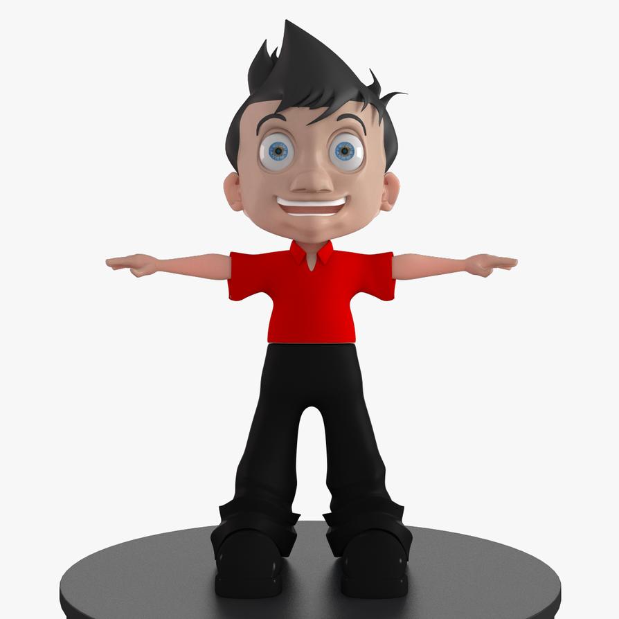 My cartoon boy 3d model by jahanstudioz on deviantart for Deviantart 3d models