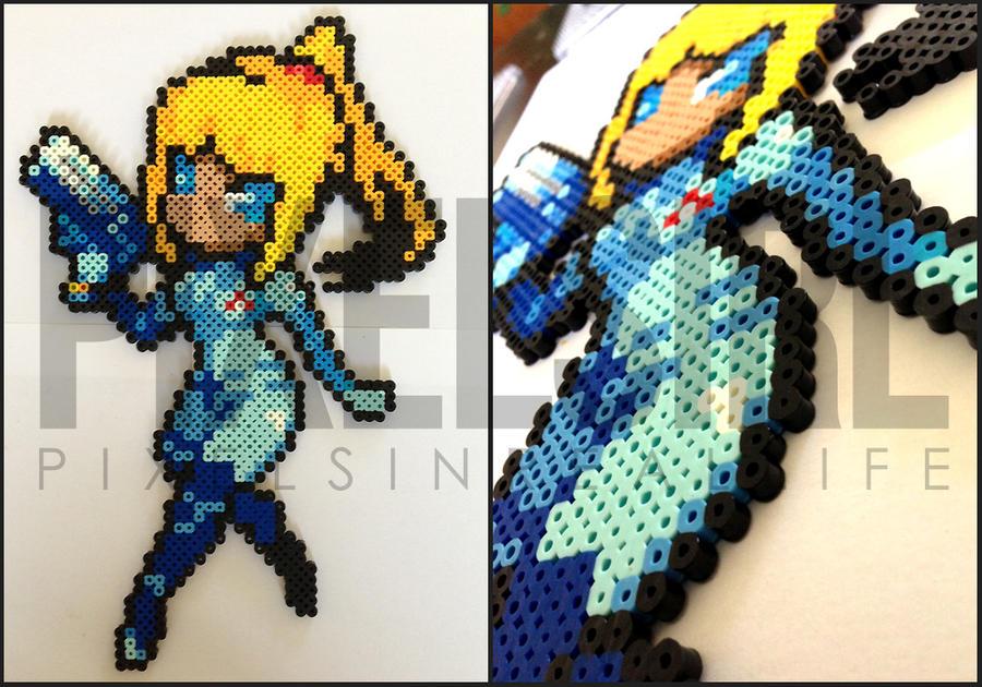 Zero Suit Samus Perler Bead Art by pixelsirl