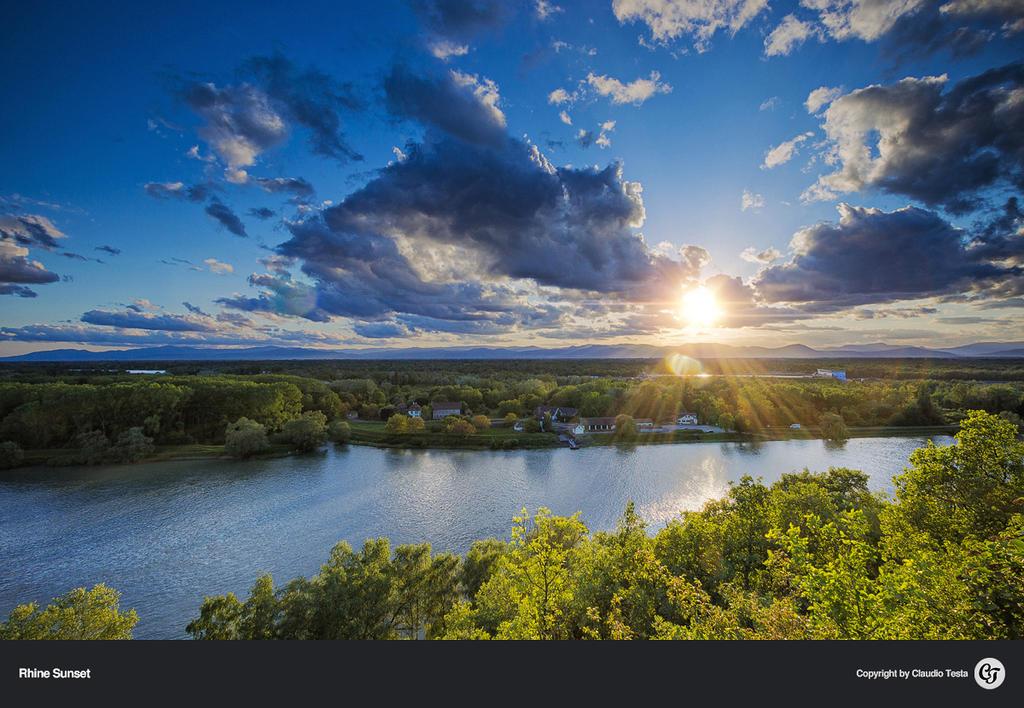 Rhine Sunset by NYClaudioTesta