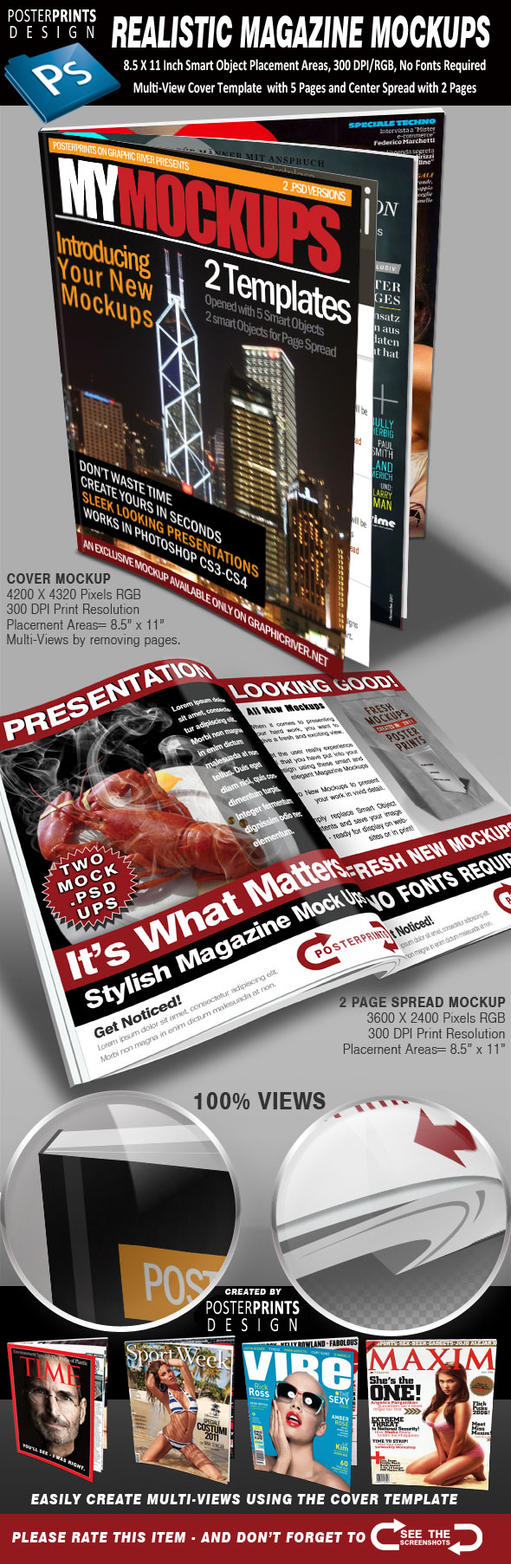 Magazine Mockups by JuedM