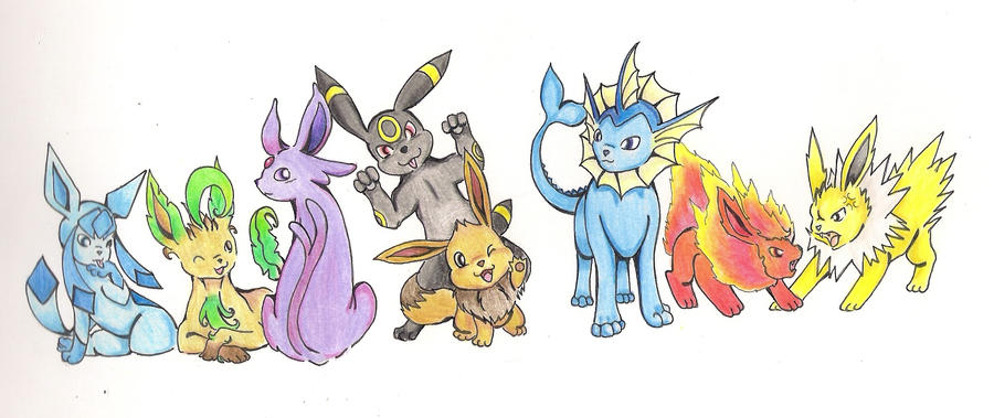 Eevee family by chibifox1803