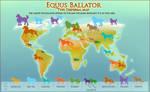 Equus Ballator Type Dispersal Map