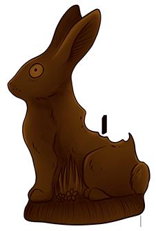 Gently Used Chocolate Bunny