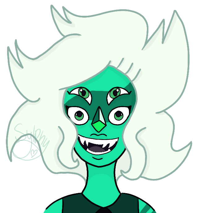 This is one of my favorite fusion designs! Malachite was a great addition to the Steven Universe gemstone roster (design wise) and it makes me said that they didn't show her a lot I was really worr...